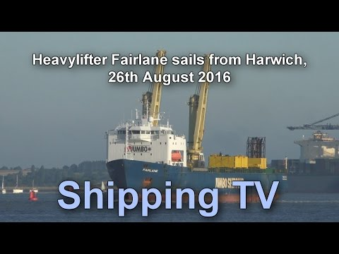 Click to view video Heavylifter Fairlane sails from Harwich, 29 August 2016