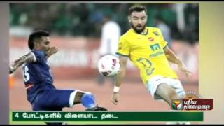 Fines galore after ISL match between Chennai and North East