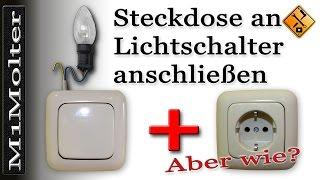 download video lichtschalter an steckdose anschlie en. Black Bedroom Furniture Sets. Home Design Ideas