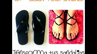 getlinkyoutube.com-DIY - RECICLA TUS SANDALIAS DE PLAYA / RECYCLE YOUR BEACH SANDALS