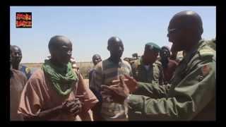 Dogotiere - colonel Keba Sangare en campagne de sensibilisation des populations