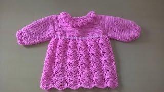 getlinkyoutube.com-Vestido para bebé: Como hacer vestido para niña en crochet