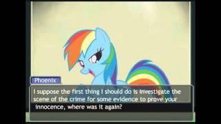 getlinkyoutube.com-Phoenix Wright / My Little Pony FIM - Turnabout Storm [Part 1/4]