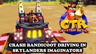 Crash Team Racing recreated on PS4 in Skylanders Imaginators - Crash Bandicoot GAMEPLAY