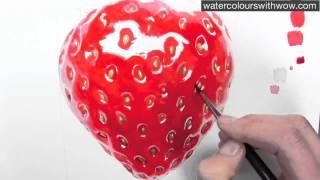 getlinkyoutube.com-Как нарисовать акварелью реалистичную ягодку