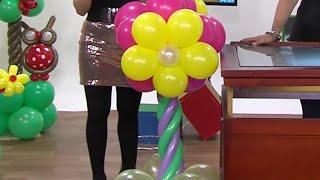 getlinkyoutube.com-Globoflexia - Como hacer una Columna de Flores con Globos- Hogar Tv  por Juan Gonzalo Angel