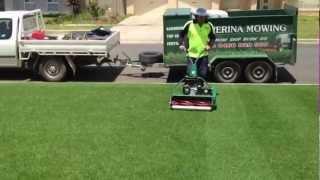 getlinkyoutube.com-Cylinder lawn mowing Wagga