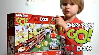 getlinkyoutube.com-Angry Birds Go! TELEPODS - Pig Rock RaceWay