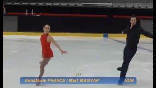 getlinkyoutube.com-AnnaMarie PEARCE / Mark MAGYAR (HUN) SP @ Four National Championships 2016