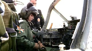 getlinkyoutube.com-First Female Fighter Pilots of Indian Air Force Flying HAL HJT-16 Kiran Trainer Aircraft