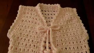 getlinkyoutube.com-Girl's Pink crochet Vest