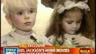 getlinkyoutube.com-Paris and Prince Jackson Singing to there daddy