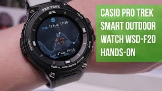 getlinkyoutube.com-Casio Pro Trek Smart Outdoor Watch WSD-F20 Hands-on