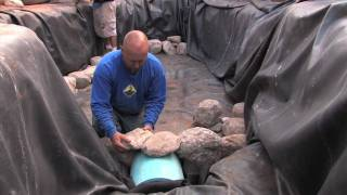 getlinkyoutube.com-How to Install a Koi Fish Tunnel & set Rock as Walls in your Pond