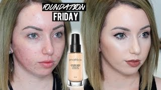 getlinkyoutube.com-SMASHBOX STUDIO SKIN FOUNDATION New Shades & Formula | First Impression Review on Acne/Pale Skin