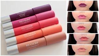 getlinkyoutube.com-Mini Review & Lip Swatches: Revlon ColorBurst Matte Balms ♡