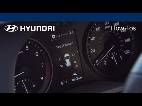 How to Use the Tire Pressure Monitoring System Feature | 2018 Hyundai