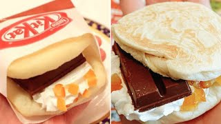 KIT KAT SANDWICH! Japanese Fast Food?