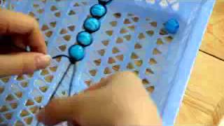 getlinkyoutube.com-Make shamballa macrame bracelets with your own beads in 15 minutes, step to step guide.