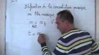 getlinkyoutube.com-cours seconde / chimie / ch6: la concentration massique