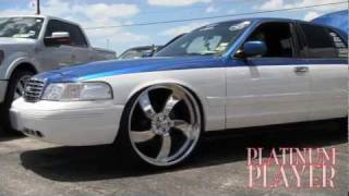 getlinkyoutube.com-TWO TONE CROWN VIC on 26 INCH BILLETS- THE LONE STAR SERIES