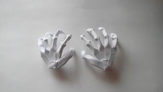 getlinkyoutube.com-Как сделать из бумаги руку