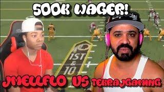 500K WAGER VS. JMELLFLO! JMELLFLO BLOWS 14-0 LEAD?! | Madden 17 Ultimate Team Gameplay | MUT 17
