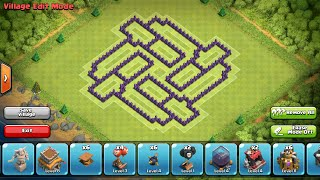 Clash of Clans- Town hall 8 defense base/war base