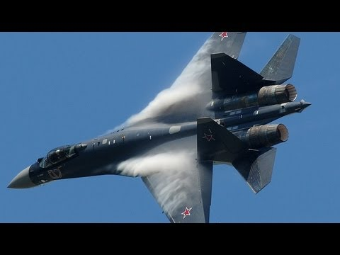 Paris Air Show 2013 - Su-35 Vertical Take-off + Air Show hd