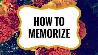 How to Memorize: 4 Tricks