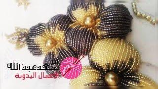 getlinkyoutube.com-كيفية تنبات وردة منفوخة بالعقيق رائعة و جميلة | Randa | Crochet | Tanbat