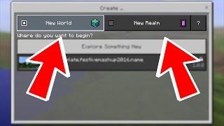 getlinkyoutube.com-MCPE 0.17.0 OFFICIAL NEW REALMS MENU REVEALED!