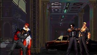 getlinkyoutube.com-Iori Yagami & Evil Robert VS. Kusanagi & Violent Yamazaki