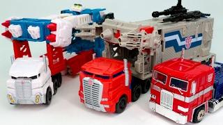 getlinkyoutube.com-Transformers Titans Return PowerMaster Optimus Prime Ultra Magnus G1 Convoy Vehicle Robot Car Toys