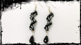 getlinkyoutube.com-TheHeartBeading: Spiral Earrings Tutorial (no sound)