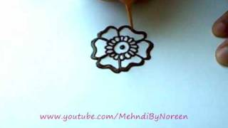 getlinkyoutube.com-How to draw a henna flower (Part 1)