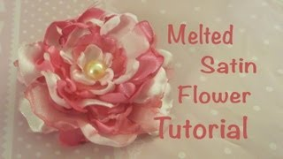 getlinkyoutube.com-Melted Satin Flower Tutorial