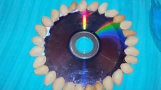 getlinkyoutube.com-CD WALL HANGING &PISTA SHELL CRAFT
