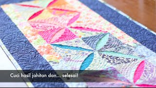 getlinkyoutube.com-Menjahit Taplak Meja Kain Perca (Quilting)