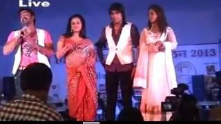 getlinkyoutube.com-Pawan singh n anjana singh New Stage Show delhi.........