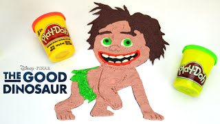 getlinkyoutube.com-The Good Dinosaur: How to Draw Spot with PlayDoh - Un Gran Dinosaurio Trailer by supercool4kids