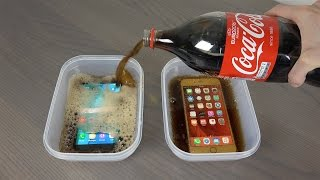 getlinkyoutube.com-Samsung Galaxy S7 Edge vs. iPhone 6S Plus Coca-Cola Freeze Test 9 Hours! Will It Survive ?