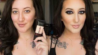 getlinkyoutube.com-NEW L'Oreal Infallible Pro-Matte Foundation | 24 Hour Demo + Review | DRY SKIN