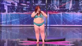 getlinkyoutube.com-اغرب موهبة  للمواهب امرأة سمينة ترقص على بوري للتعري