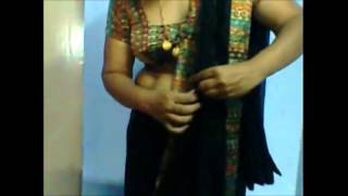 HOT TELUGU AUNTY FULL NUDE SEXY SAREE WEAR AND REMOVE MUST WATCH