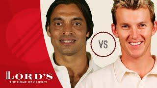 getlinkyoutube.com-Shoaib Akhtar vs Brett Lee | Who's The Greatest?