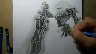 getlinkyoutube.com-Pencil Drawing - Riven championship with Copenhagen Wolves logo