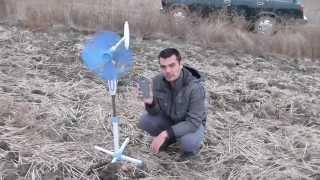 getlinkyoutube.com-свое электричество. ветрогенератор из комнатного вентилятора.