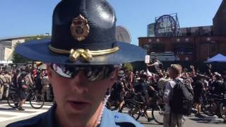Flag Burning Causes Intense Clash Between Cops And Commies at RNC2016