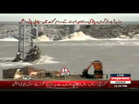 flood in swat river and mingora city1